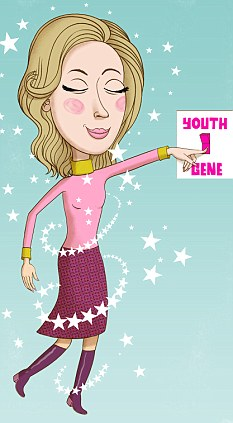 Woman with the youth gene