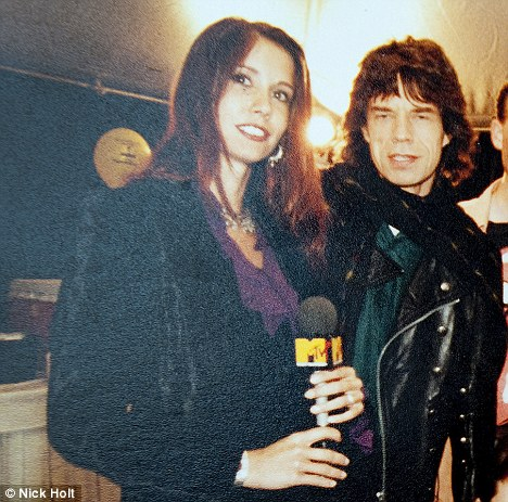 Ex-MTV Presenter Kristiane Backer with Mick Jagger in the late Eighties