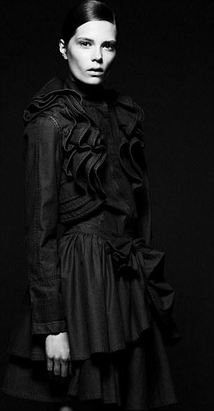Short ruffle jacket, £119.95, skirt, £69.95