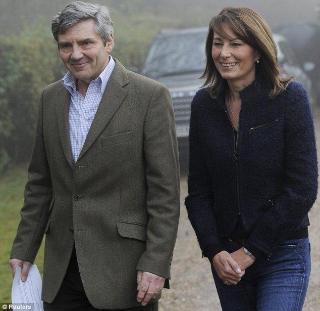 Kate's parents Michael and Carole
