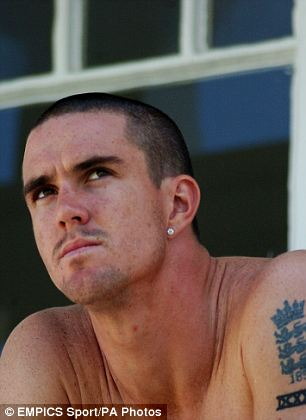 Fellow England cricketer Kevin Pietersen got a Three Lions tattoo during a