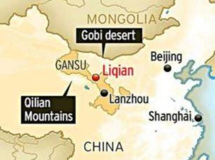 Liqian este situat chiar la marginea deșertului Gobi