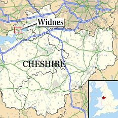 Widnes in Cheshire