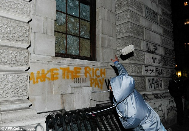 Kids in hoodies attacking the Treasury - it's happened before, it can happen again.