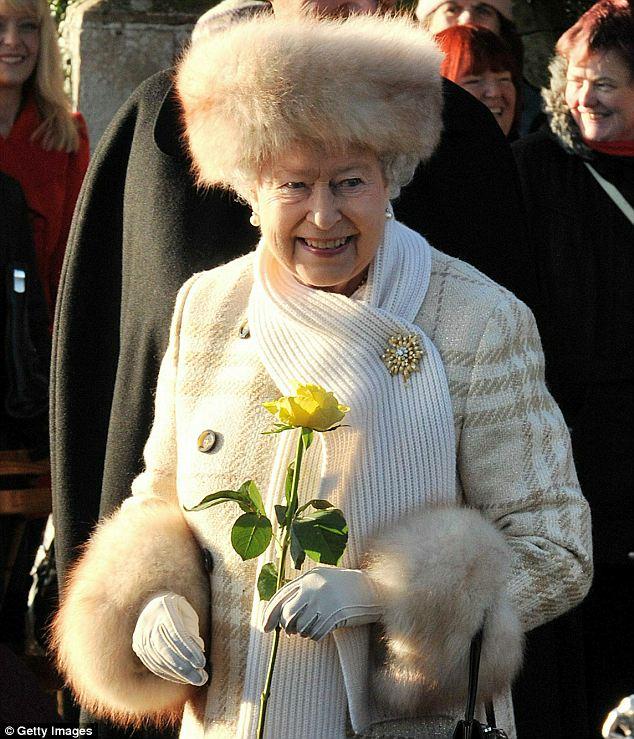 Image result for Queen Elizabeth II wearing real fur