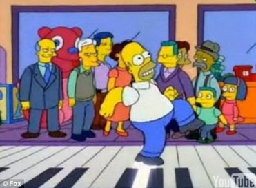 Image result for piano simpsons christmas