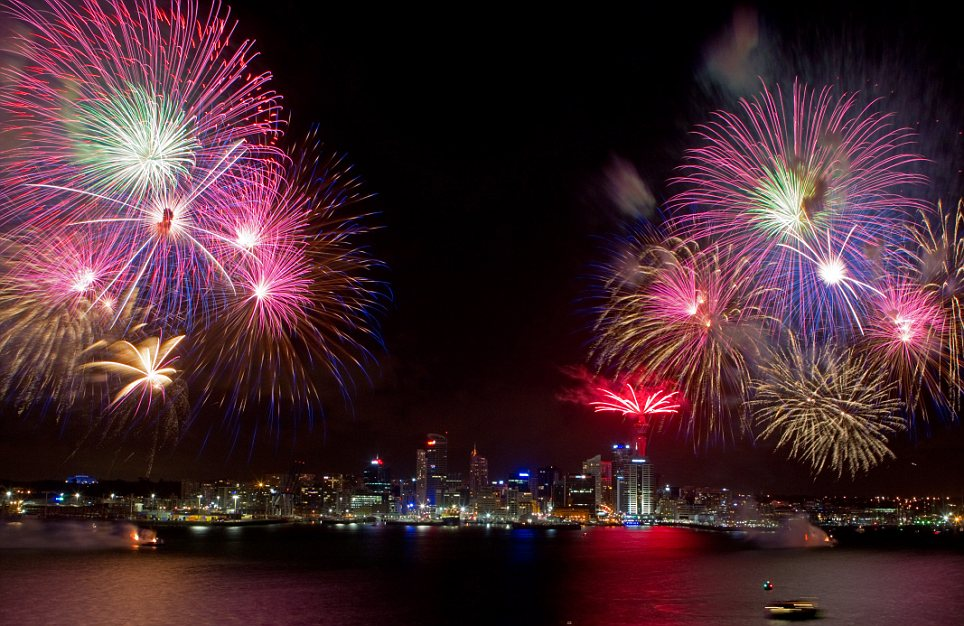 First New Year: Auckland was the first major city to celebrate the start of 2011