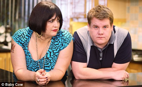 Takes one to know one: Fat men tend to have bigger friends so their size seems normal like the Gavin and Stacey characters played by James Corden and Ruth Jones