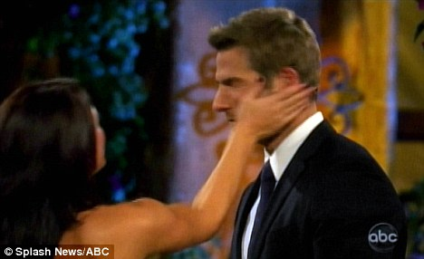 Ouch! Brad Womack gets slapped by Bachelor contestant Chantal