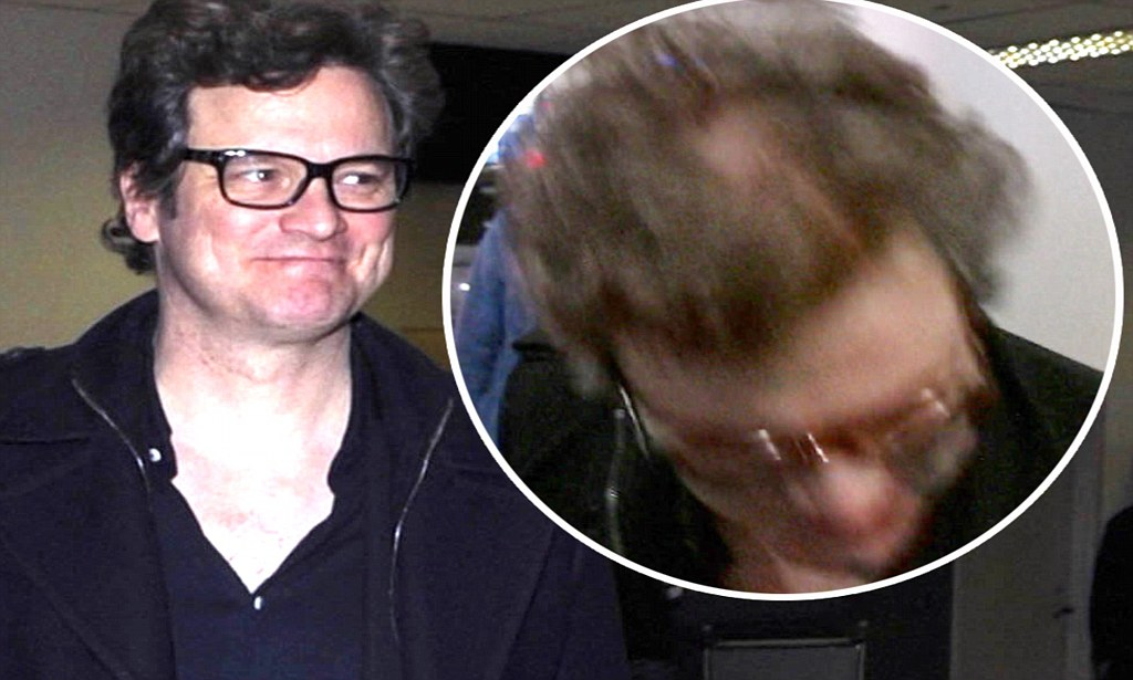Colin Firth Shows Off Bald Patch As He Jets Into LA
