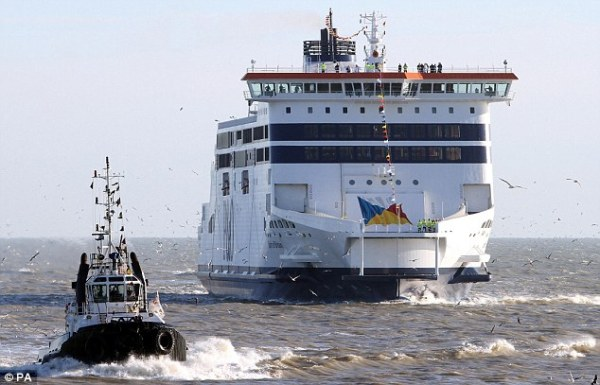P&O's Spirit of Britain ferry launches in Dover | Daily ...
