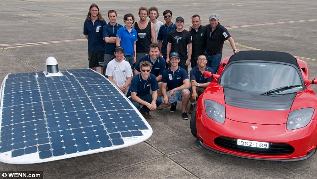 Hot team: The Australian students who built the £175,000 record-breaking car