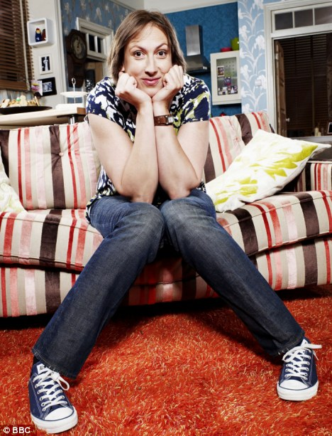 Award winner: Miranda Hart swept the board at the British Comedy Awards for her partly self-deprecating show, Miranda, about a single woman who runs a gift shop