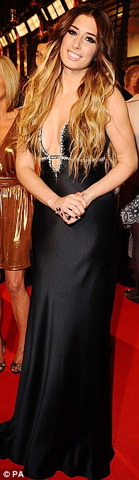 Ladies in black: Alesha Dixon, Stacey Solomon and Cheryl Cole all wore black for the occasion