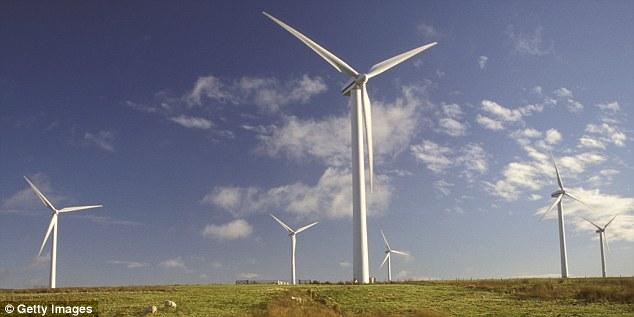 Wind turbines in Dun Law, Scotland