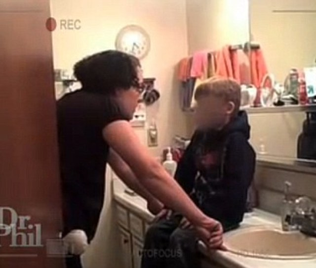 Discipline Jessica Beagley Shouts At Her Son Before Squirting Hot Sauce Into His Mouth In