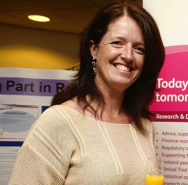 Colleague: Hewett Centre secretary Jackie McGlashan makes travel arrangements for couples heading to Cyprus