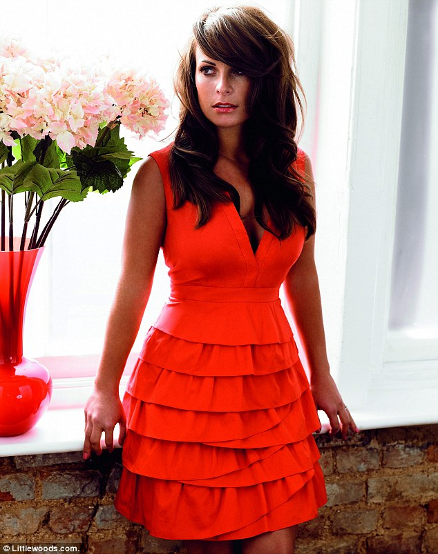 Lady in red: This ruffled dress is also part of the mother-of-one's range