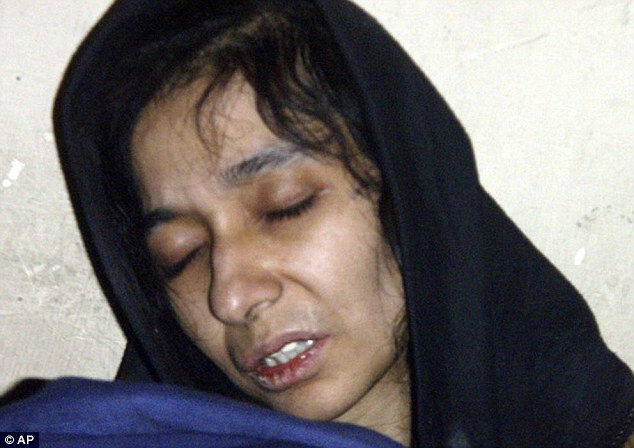 Prisoner swap: Pakistan's law minister hinted that his Government would consider a deal to release Mr Davis in return for Aafia Siddiqui, pictured, who is in prison in the U.S. after being found guilty of trying to kill her American interrogators