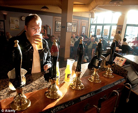 Alcohol: British men drink on average 110 pints of beer a year, the third highest beer drinkers in the world