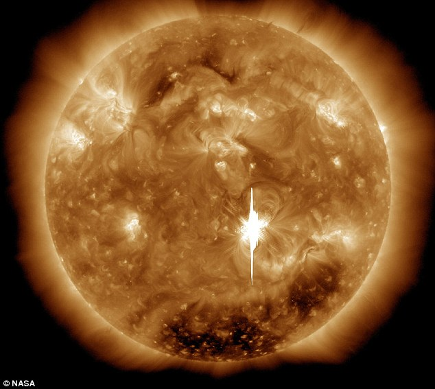 Imminent: The world got a taster of the sun's explosive power last week with the strongest solar eruption in five years sent a torrent of charged plasma hurtling towards the world. Scientists believe we are overdue a ferocious solar storm