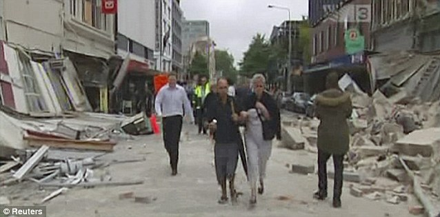 Epicentre: The US Geological Survey said the quake was centred three miles from the city at a depth of 2.5 mile