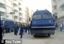 Used by Gaddafi: a British made personnel carrier on the streets of Libya