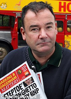 Concern: Labour MP Jon Cruddas, who fought against the BNP in his east London constituency, said the poll findings pointed a 'very real threat'