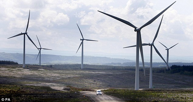 Taking over: Europe's biggest onshore wind farm is Whitelee, on the outskirts of Glasgow