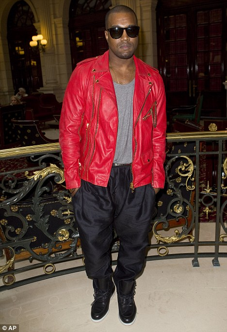 Trying to start a new trend? Perhaps Kanye hopes to inspire other men to wear parachute pants