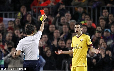 RVP sent off