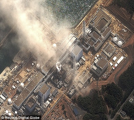 The damaged at the Fukushima Daiichi nuclear plant after a second explosion yesterday