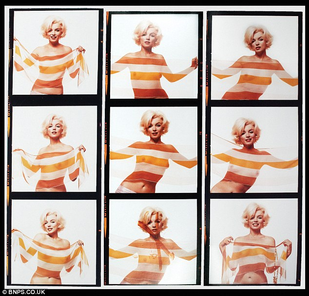 Screen legend: Marilyn Monroe's last ever photo shoot before her death is going up for auction, taken in 1962 by photographer Bert Stern