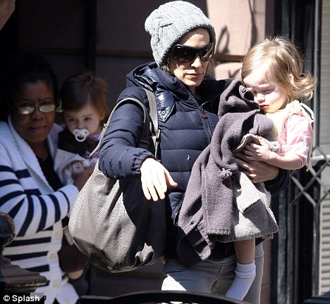 Life-saver: Sarah Jessica Parker relies on a nanny to help look after her twins Marion and Tabitha