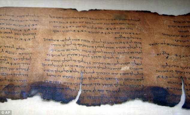 Groundbreaking find: A section of the Dead Sea Scrolls, which were discovered in 1947