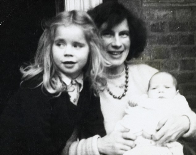Rising star: Celia with her mother and younger sister Katie
