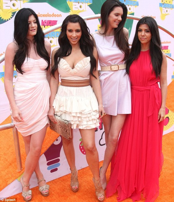 Kardashian wears cleavage enhancing mini-dress to Kids ...