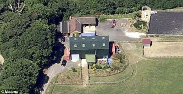 Fraud: An aerial view of Northaw Brook Meadow offers no clues that it is actually a luxury, two-storey house worth £500,000