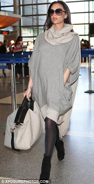 Yummy mummy: Victoria Beckham has previously admitted she treats the airport like her own personal runway