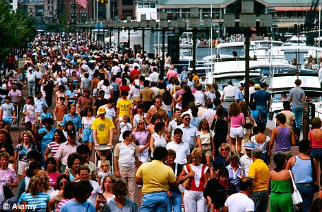 Crowded: The global population is now more than six billion and is predicted to hit nine billion within 30 years