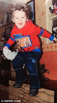 Full of life: Josh age 3 in 2009, 6 months before the vaccination jab