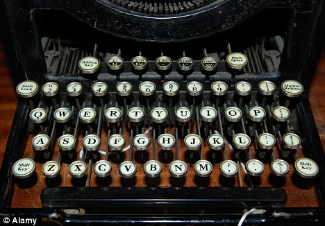 Standing the test of time: The keyboard might not have changed in 100 years, but the typewriter itself has been superseded by the computer