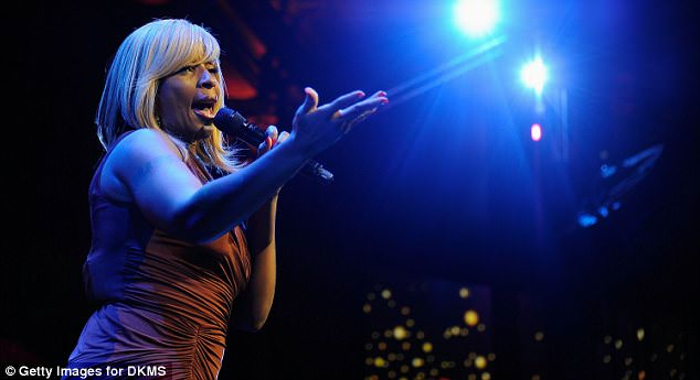Class Act: Guests at the charity gala were treated to a performance by Mary J Blige