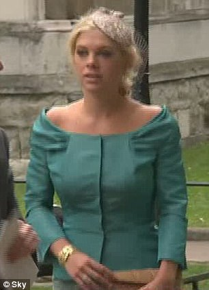 Special guest: Chelsy Davy arrives at Westminster Abbey. Kate Middleton will be arriving at 11am - if she isn't late
