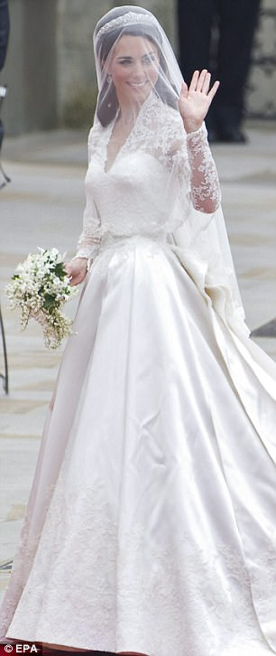 Royal Wedding Kate Middleton S Wedding Dress Tribute To Grace Kelly Daily Mail Online