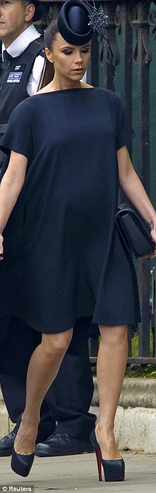 Victoria Beckham in funereal black was a little too tanned and try-hard for my taste: her own-label dress, too high Louboutins and far too much make-up