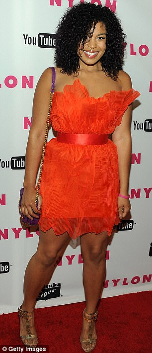 Colourful: Both Paris Hilton and Jordin Sparks went all out in their bright dresses
