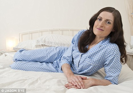 Restless nights: Bridget Davidson spent seven years lying awake next to her sleeping husband... and it cost her their marriage