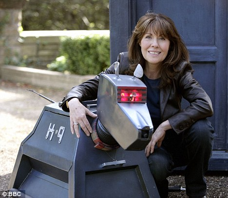 Comeback: Elisabeth and Sarah Jane's sidekick K9 returned to Doctor Who in 2006