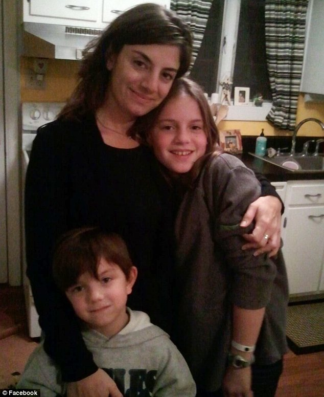 Torn apart: Mrs Giordano said that her children have given her strength during cancer battle